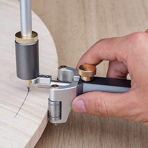 WY-YAN Tratamiento de la madera lineal Arco doble finalidad Scriber regla paralela dibujo lineal de medición Medidor de herramientas de bricolaje de madera Scribe