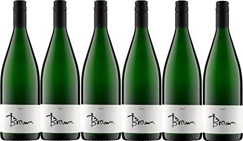 Weingut Braun Ellerstadt Riesling & Gewürztraminer lieblich (6 x 1,0L)