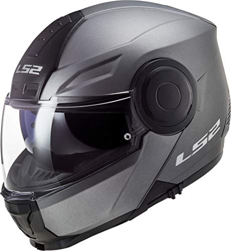 LS2, Casco modular de moto, Scope titanio, XS