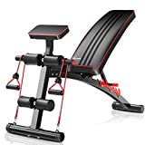 Surwit Adjustable Weight Bench Workout Bench Press For Home Gym, Sit Up Bench