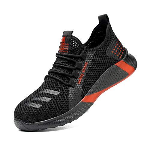 jincan Zapatos de Seguridad para Hombre Zapatillas con Punta de Acero Zapatos de Trabajo Ligeros Zapatillas industriales Transpirables para Mujer - JI12