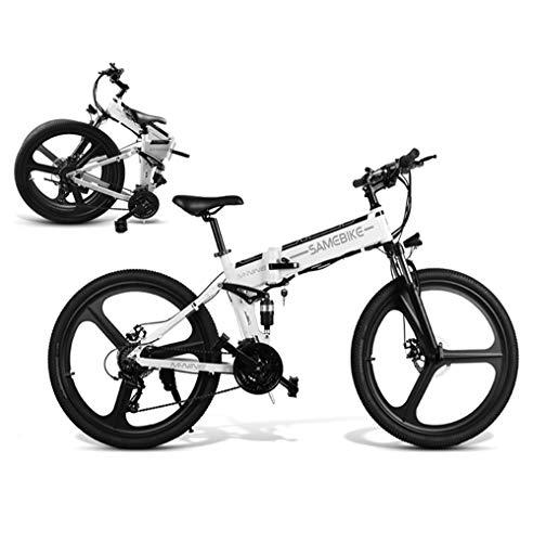 No branded Vélo électrique Pliant 26 Pouces Hommes Femme 350 W/500W 25 km/h vélo de Ville/Trekking/VTT Batterie au Lithium 48V 10AH Shimano 21 Vitesses Frein à Disque mètre LCD [EU Stock]