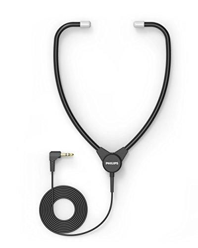 Philips stethoscoop koptelefoon voor Philips dicteer- en weergavesystemen, 3,5 mm jack, antraciet Met scharnier en eenoorhaak. antraciet