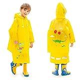fenhe Chubasquero EVA con capucha para niñas y niños con ala grande de 11,5 cm que bloquea la línea de vistas