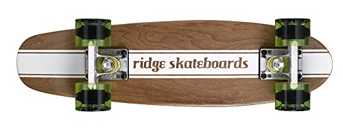 comparador Ridge Maple Mini Dark Die Skateboard – Longboard Color verde 22 ""