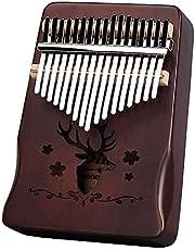 XUBX Kalimba 17 Keys Thumb Piano, met Studie Instructie en Tune Hammer, Draagbare Kalimba Thumb Piano, Mbira Wood Finger Piano, Geschenk voor Kinderen Volwassen Beginners