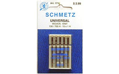 25 Schmetz Universal Sewing Machine Needles 130/705H 15x1H Size 90/14