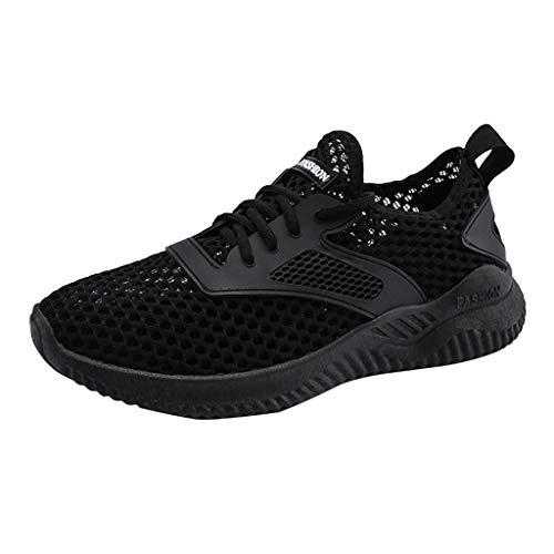 Xmiral Turnschuhe Herren Leichtgewichts Atmungsaktiv Sportschuhe Sneaker Laufschuhe Freizeitschuhe Für Outdoor Fitness Sporthalle(42,Schwarz)