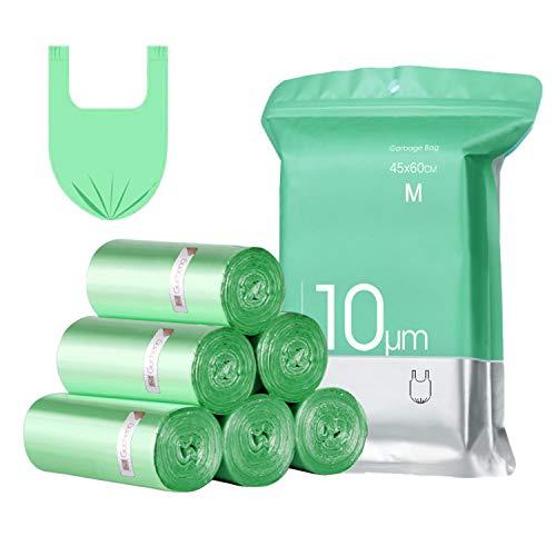 Bolsas Basura con Asas,15-20L,Extra Resistentes Bolsa de Basura Pequeñas,Bolsas Liners para Residuos de Cocina(4x25 bolsas)