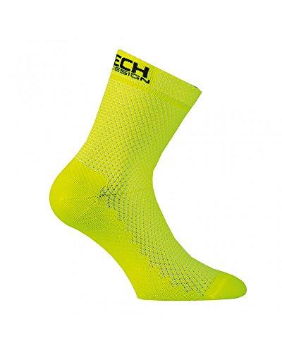 Xtech Calze Ciclismo XT87, Yellow - Giallo, 43/46
