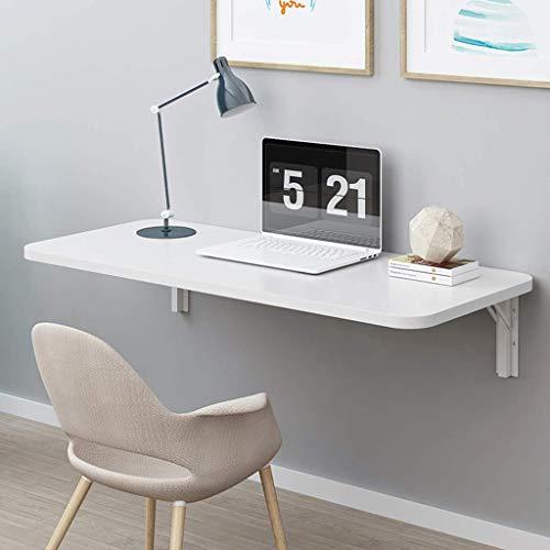 Aan de muur bevestigde vloer table Aan de muur bevestigde vloer tafel, opvouwbare laptop tafel, ruimtebesparende studie muur hangen tafel, slaapkamer, badkamer of balkon laptop bureau