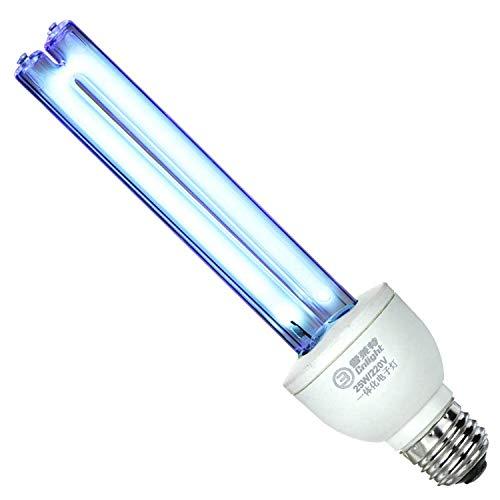 Coospider - Lampadina UV germicida a incandescenza, con attacco a vite E27, 25 W, 220 V, copre fino a 37 m² A raggi UVC privi di ozono.