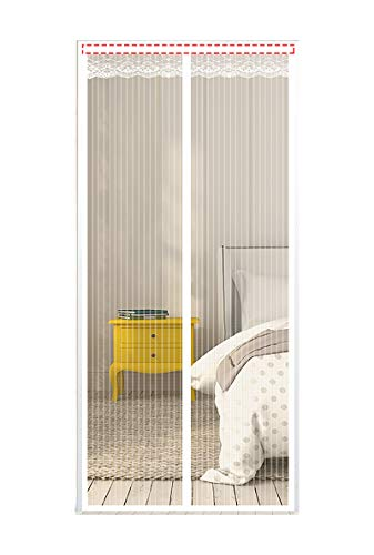 PENGDDP Mesh Curtain Magnetic Fly Insect Screen Door Magnetic Door Screen Magnetic Door Curtains Fly Screenfor Doors Anti Mosquito or Anti Pest Magnetic Soft Door(Size:70x190cm,Color:White)