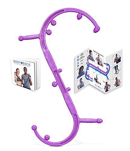Body Back Buddy Elite (Upgraded 2020 Version) Back Massager, Handheld Massage Stick, Trigger Point Massage Cane, Full Body Muscle Pain Relief (Purple)