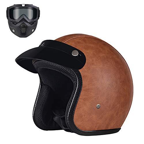 Profesional Half Moto Cascos Helmet para Mujer y Hombre, Motos Baratos Scooter...
