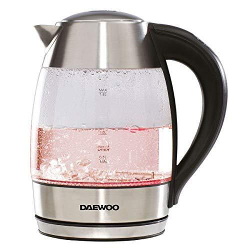Daewoo Wasserkocher, 2200 W, digital, 1,8 l, Edelstahl