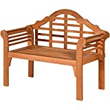 Tangkula Outdoor Eucalyptus Wood Folding Bench, 4 Ft Foldable Solid Wood Garden Bench, Two Person Loveseat Chair for Garden, Patio, Porch, Poolside, Balcony, Teak (Natural)