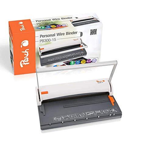 Peach PB300-15 Rilegatrice Manuale a Spirali Metalliche da 8mm, Fora Fino a 6 Fogli Volume Max. 60 Fogli