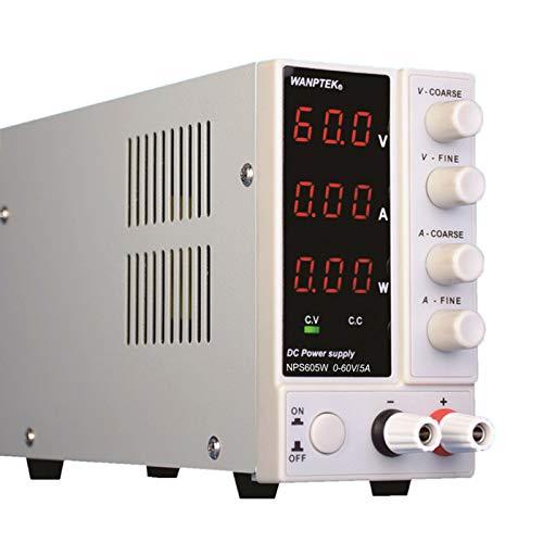 OUKANING LED Labornetzgerät 0-60V 5A 300W Netzgerät Labornetzteil regelbar Schaltnetzteil