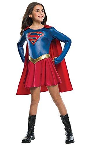 Rubie's - Costume da Supergirl, supereroina dell'omonima serie TV, prodotto su licenza ufficiale, di lusso, misura S