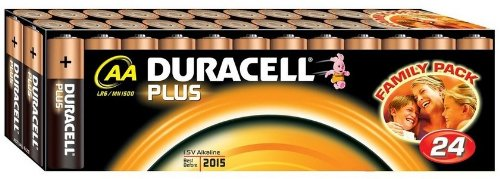 Duracell Plus AA/LR06/MN1500 - Paquete de 24 pilas alcalinas AA