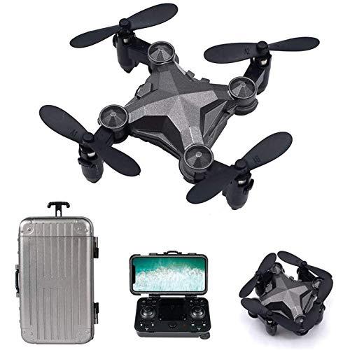 ZHCJH Mini dron para niños,dronWiFi, cuadricóptero RC Plegable con Vuelo en 3D, Vuelo de trayectoria, Modo sin Cabeza, retención de altitud, despegue/Aterrizaje con una tecla para niños y niñas, c