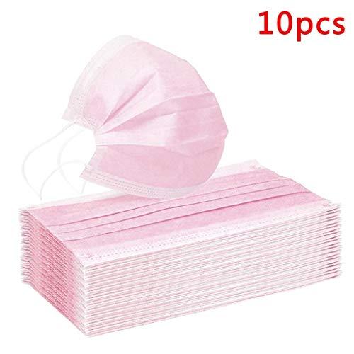 Tissu Intissé Rose à Usage Unique, 3 épaisseurs, Air Filtré