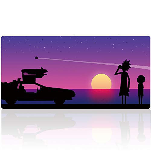 Extended Gaming Mouse Pad - Non-Slip Water-Resistant Rubber Base Computer Keyboard Mouse Mat, Durable Gaming Mouse mat XX-Large, Ideal for Work & Game (90x40 zisecarY28)