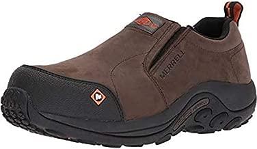 Merrell Men's Jungle Moc Comp Toe Work Shoe Construction, Espresso, 9.5