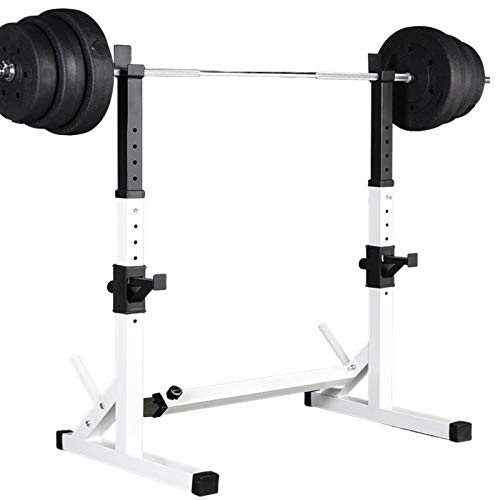 Barbell Rack Stand - Multifunctional Adjustable Squat Rack, Heavy-Duty Dumbbell Rack,Strength Training Dip Station, Home Gym Equipment Max Load 550lbs