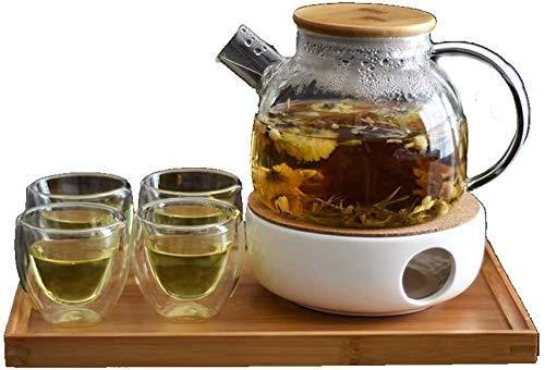 Riyyow Creatividad Tetera Tetera Tetera de Cristal Resistente al Calor Cocina y Filtro de Acero Inoxidable Stovetop 1000ml para Oficina en casa al Aire Libre (Size : 1000ml)