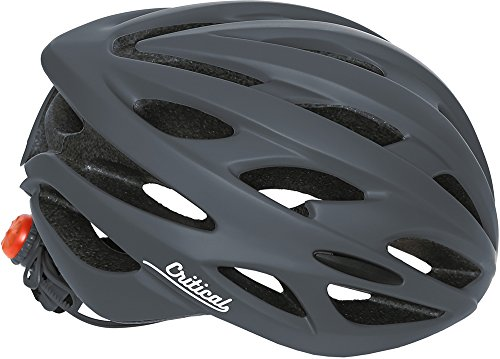 Critical Cycles 2582 Adult Silas bicicleta Helmet con 24 Vents, One Size, Matte Graphite