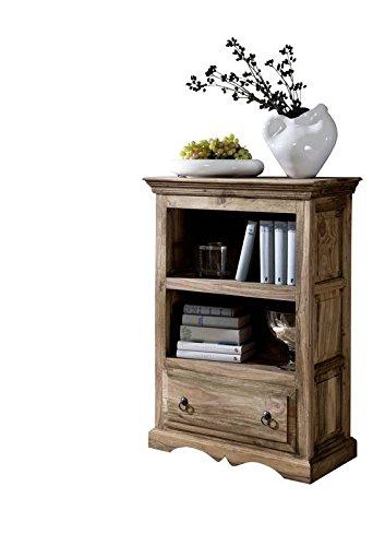 MASSIVMOEBEL24.DE Massiv Holz Kolonialart Möbel Sheesham geölt Regal Palisander grau Massivmöbel grau LEEDS #40