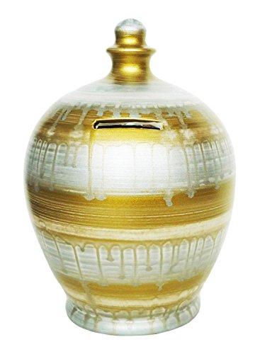 Terramundi Salvadanaio, colore: oro e argento, effetto colato, A50