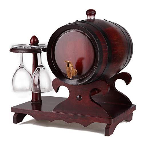 SSBH Titular 1.5L del Roble del Barril de Vino del Barril de Vino Copa del Barril de Vino del Barril de Vino (Color: Madera, Color Antiguo) J1116 (Color : B)