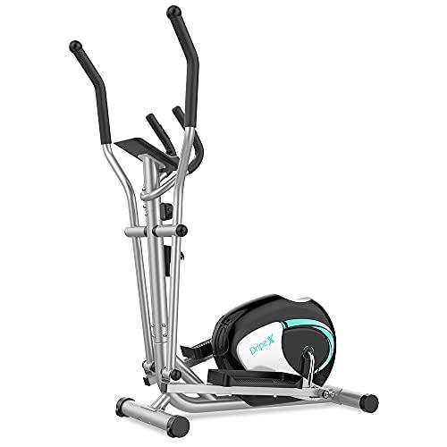 DripeX Vélo Elliptique d'Appartement Fitness à 8 Niveaux de Résistance, Machine Elliptique avec Capteur de Fréquence Cardiaque, Écran LCD, Pédales Anti-dérapantes, Support de Téléphone, 120KG (Max)