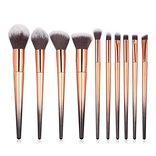 MEISINI Pinceaux de maquillage Set Poudre de beauté Foundation Precision Crayon Ombre à paupières Blush Make Up Brush, 10Pcs