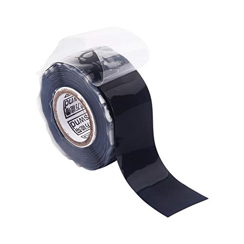 Autoadhesivo Aislante impermeable Caucho de silicona Reparación Cinta selladora Cinta de manguera de alambre de rescate, negro
