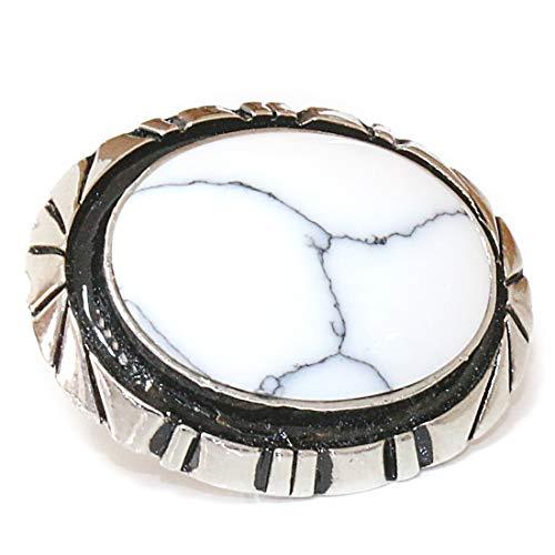 コンチョ ネイティブ インディアン ターコイズ ホワイトターコイズ ホワイトバッファロー イミテーション 【L】コンチョ ナバホ 財布 ウォレット メンズ (ネジ式)