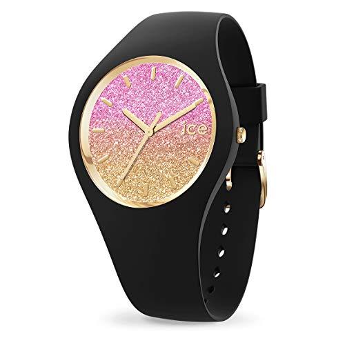 ICE-WATCH ICE Lo Black Mango - Reloj Negro para Mujer con Correa de Silicona, 016904 (Small)