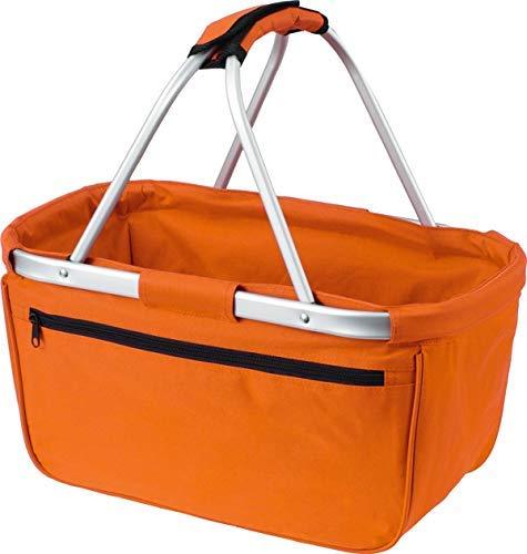 ShoppBag Einkaufskorb Korb Picknick Lunchpakete Reise Bag Faltbar Tasche, Farbe Orange