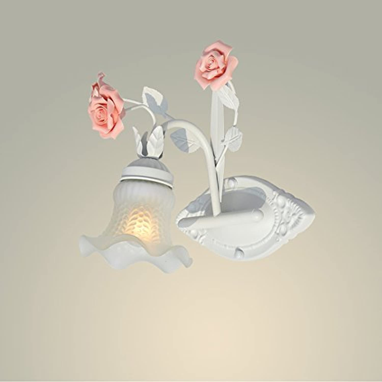 BAIJJ Blaumenlampe Nachttischlampe Lampe Spiegelleuchte Eisenwandlampe Gangwandlampe