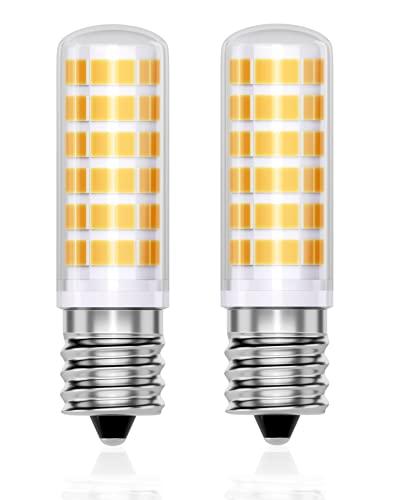 QNINE E14 LED 5W, ersetzt Glühbirne Dunstabzugshaube 40W, Warmweiß(3000K), 2 Stück Leuchtmittel, 470 Lumen, Nicht Dimmbar, 165-265V AC, Weitwinkel 360°, Maiskolben Birne [Energieklasse A+]