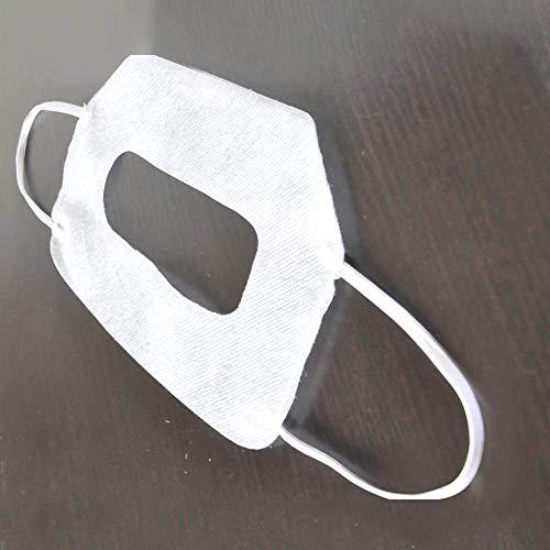 Antifaz 100 Piezas de Secado Rápido Home Cara Higiene Sudor Absorbente Cubierta Desechable VR Gafas Protector Realidad Virtual Ajustable Suave para Oculus Rift CV1