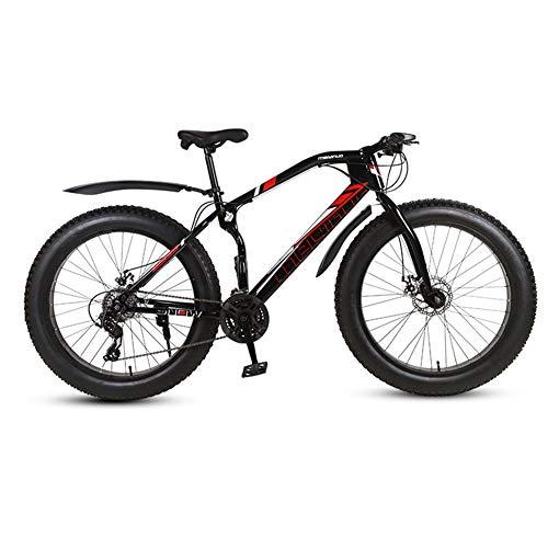 Freno A Doppio Dischi Fat Bike Mountain Bike Fuoristrada,RNNTK Pneumatico Largo Fuoristrada Velocità Variabile Vicicleta Adulto MTB Per Adulti,Una Varietà Di Colori E Donne A -21 Velocità -26 in