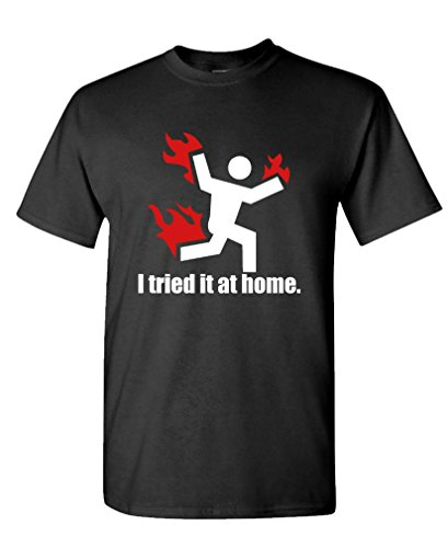 I Tried IT at Home Science Project Funny - Mens Cotton T-Shirt, 3XL, Black