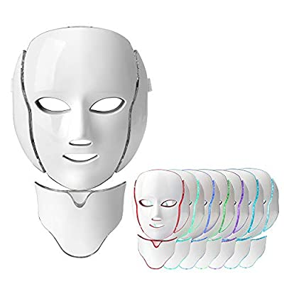 Light Therapy Mask,7 Colors Led Photon Face Mask Phototherapy facial skin treatment anti-wrinkle anti-aging whitening tender skin Acne Kit