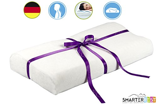 Memory Foam Pillow Contour for Back Pain, Neck and Travel - ON MASSIVE PROMOTION - Reduces Snoring, Aligns Spine, Stays Cool - Also Used As Maternity Pillow, Body Pillow, Seat Cushion, Wedge - Free Bonus Sleep Mask, Ear Plugs, Sleep Ebook - Not Decorative or Pet Pillow