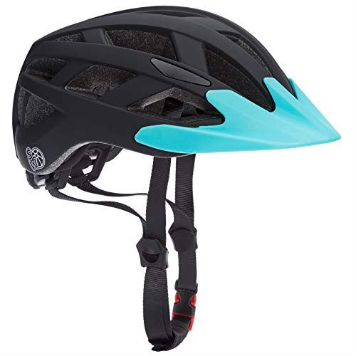 Spielwerk Casco de Ciclismo para niños Ajustable con luz de Advertencia LED...
