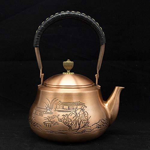 HUANGSAN Handgemachte Kupfer Teekanne Glas Samowar Keramik Emaille Emaille Kessel Metall grüner Tee